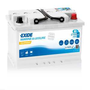 80Ah/600A  Akumulator EXIDE Equipment ET550